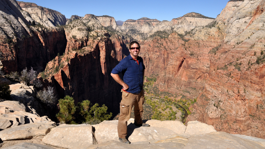 Maxwell Spangler on Angel's Landing Trail, Zion National Park